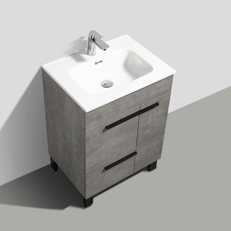 cbi gili 28 inch grey oak modern bathroom vanity ls gl28 cg