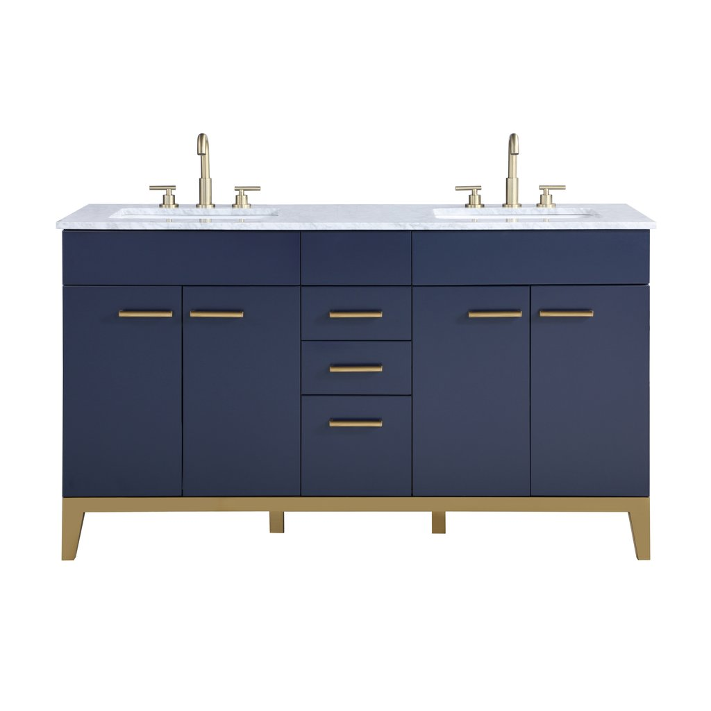 bathroom vanities bathroom vanities 36 59 stufurhome alisson dark blue 60 inch double sink bathroom vanity he 1900ny 60 cr