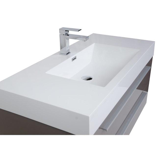Buy 39 25 Inch Wall Mount Contemporary Bathroom Vanity High Gloss
