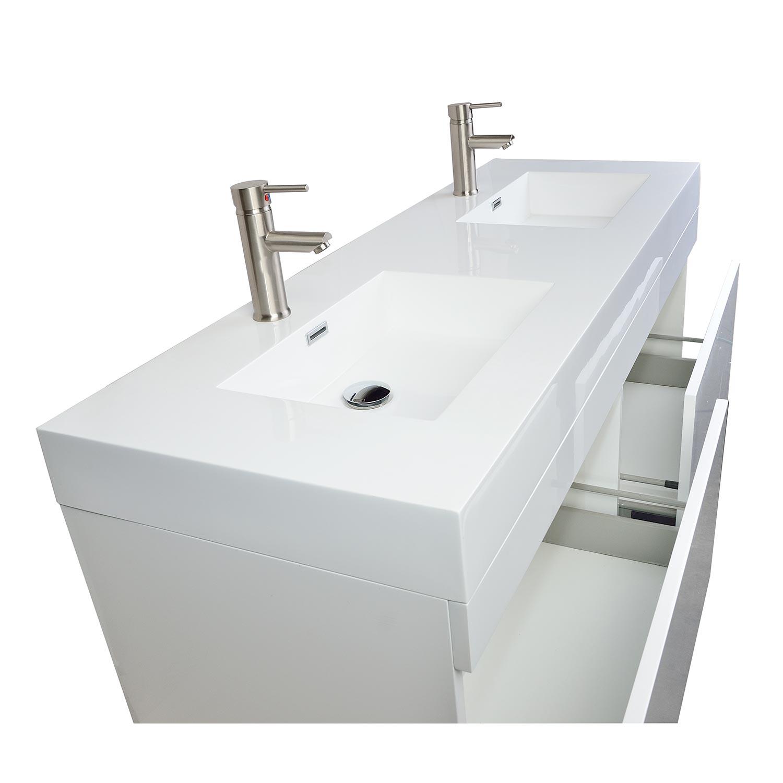 57 modern double sink vanity set in glossy white tn t1440 hgw