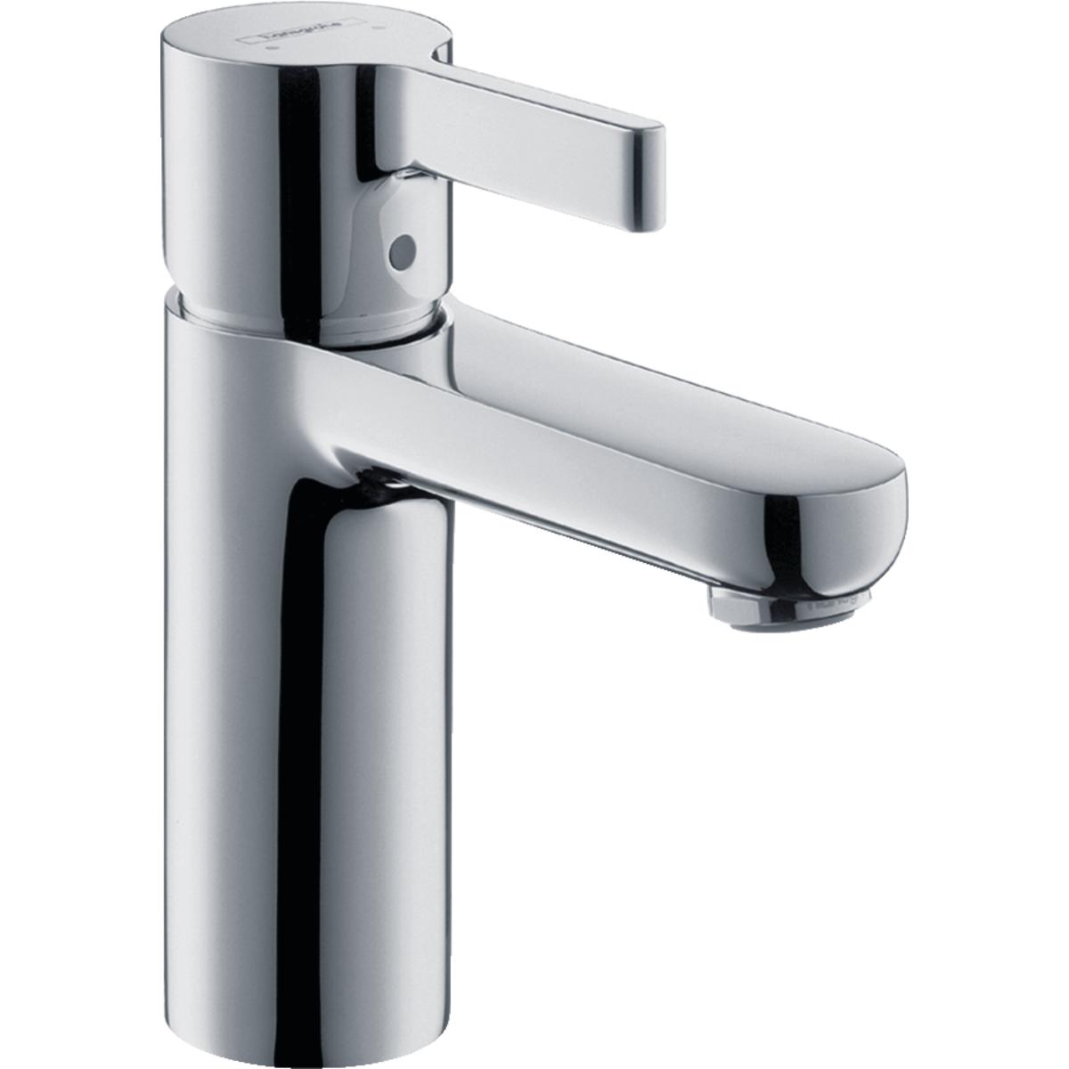 hansgrohe metris s modern 1 handle 6 inch tall bathroom sink faucet in chrome