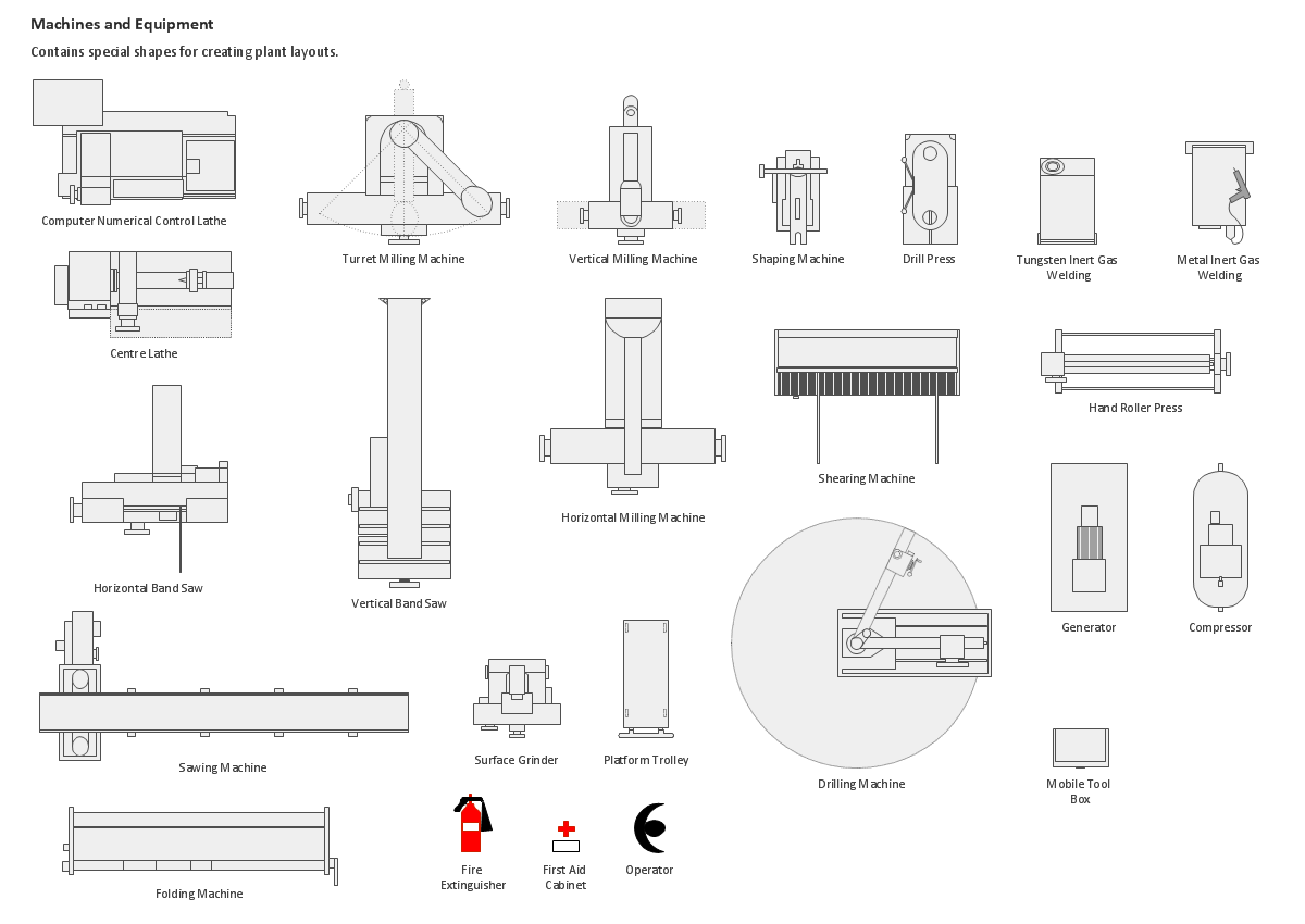 Building Drawingsign Element Machines And Equipment