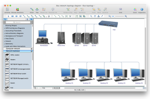 Add a Computer Network Diagram to a MS Word Document