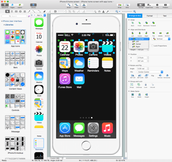 iPhone User Interface Solution | ConceptDraw.com
