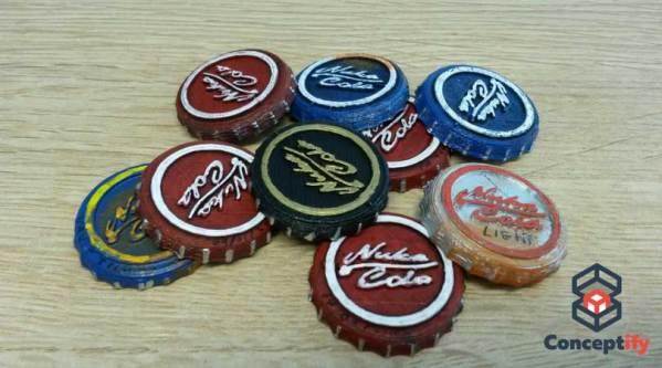 Capsule NUka cola imprimée en 3D