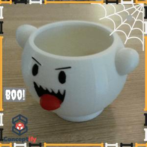 Fantôme Boo Halloween fabriqué par une imprimante 3D