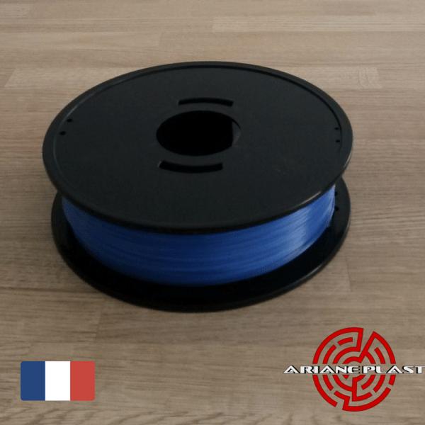 PLA Bleu translucide Arianeplast Fabriqué en France