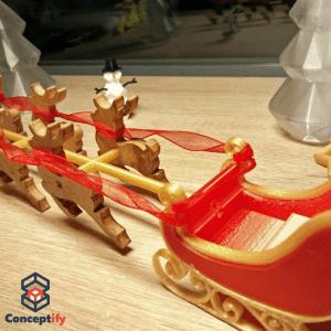 Traineau de Noel réalisé par impression 3D