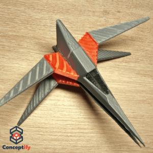 Vaisseau Wolfen Star Fox imprimé en 3D