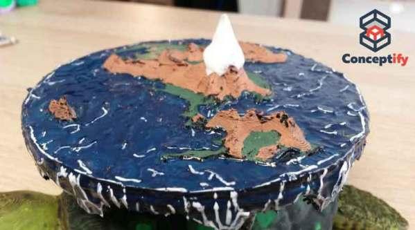 Disque-monde réalisé en impression 3D