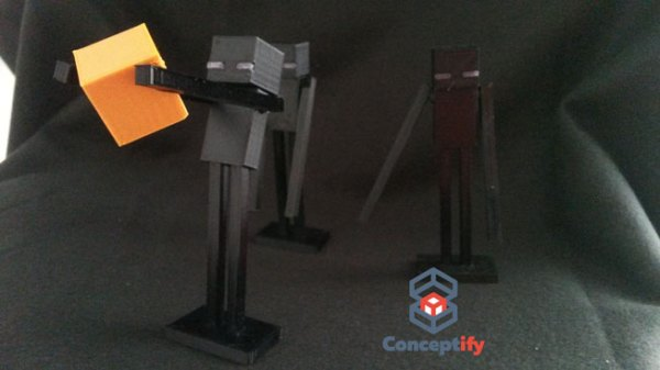 Enderman de Minecraft en impression 3D