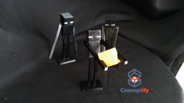 Enderman de Minecraft en impression 3D