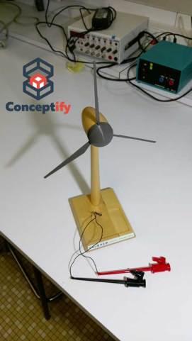 Maquette d'éolienne en impression 3D