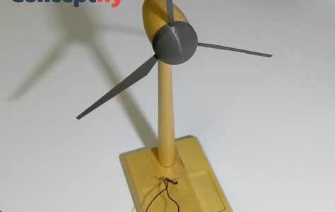 Maquette d'éolienne imprimée en 3D