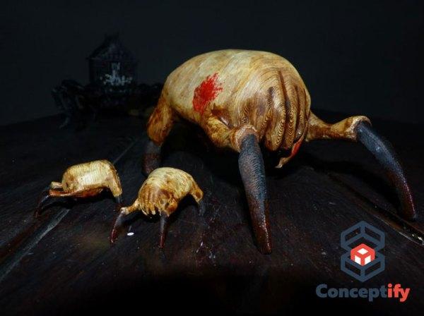 Crabe de tête issu de l'univers de Half Life réalisé par impression 3D