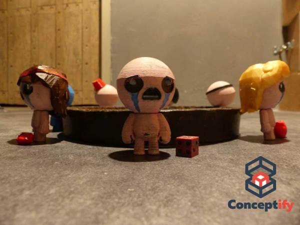 Figurine de Isaac imprimée en 3D (Binding of Isaac)