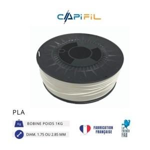 CAPIFIL - Fil imprimante 3D - PLA - Blanc