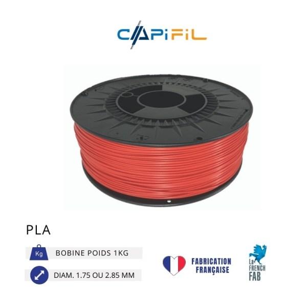 CAPIFIL - Fil imprimante 3D - PLA - Rouge - Conceptify Nancy