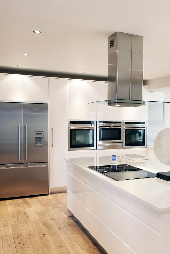 High Gloss Open Plan Kitchen Diner By Concept Interiors