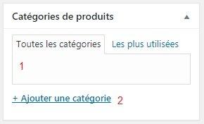 Catégorie d'un Nouveau Produit WooCommerce WordPress Conception E-commerce