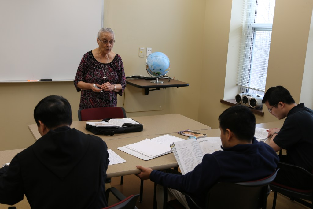 Sr. Maria continues to prepare men for the priesthood by instructing them in the Language, Culture, and Church program.