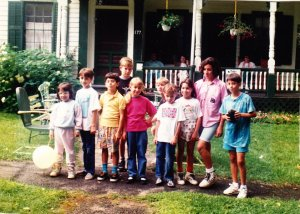 Some of my cousins and I at our family reunion house