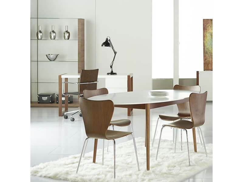 manon 63 oval dining table by euro style