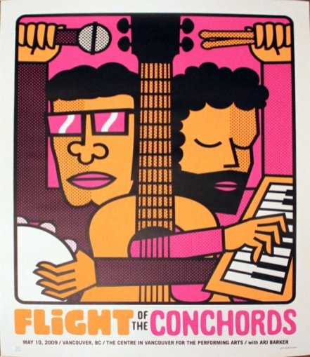 Flight of the Conchords at The Center in Vancouver for Performing Arts on May 10, 2009 Poster Print