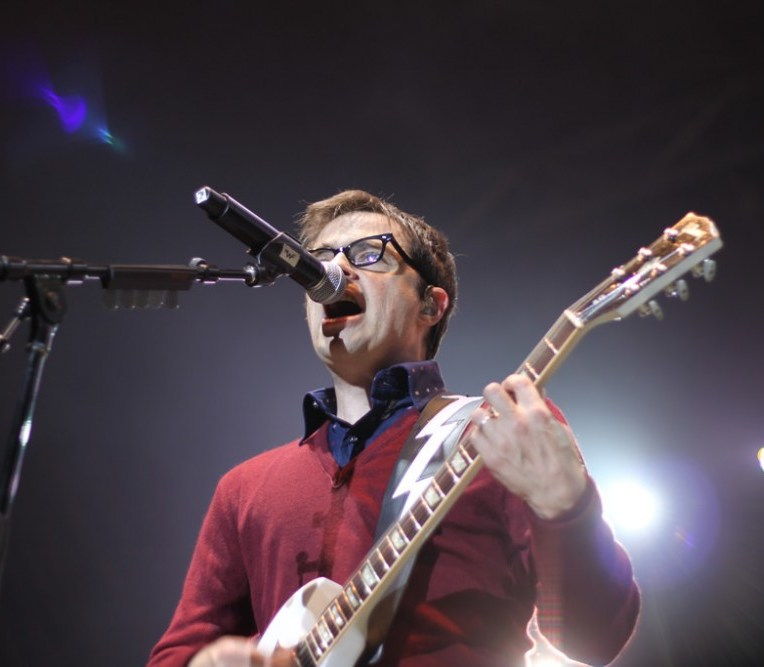 Rivers Cuomo of Weezer performing at Live at Squamish in Squamish, BC on August 21, 2011