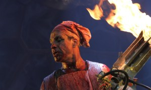 Till Lindemann of Rammstein performing at Rogers Arena in Vancouver, BC on May 13th 2012