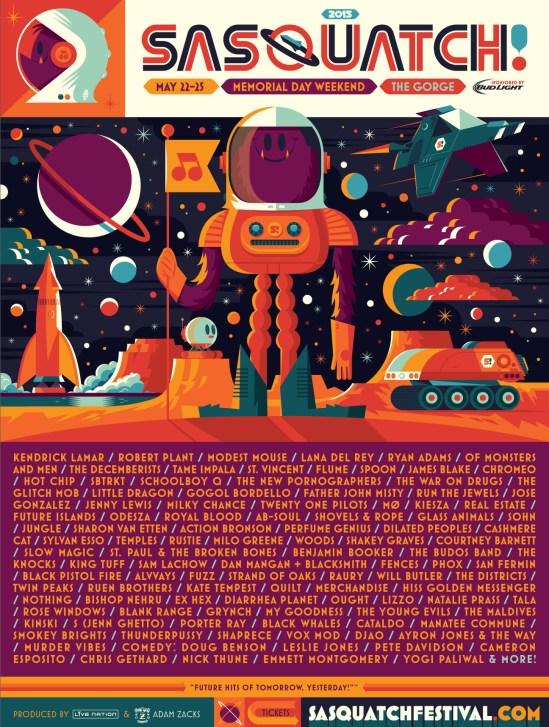 sasquatch music festival 2015 poster