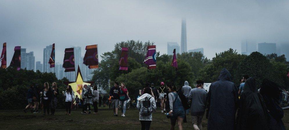 Day 1 @ Bestival Toronto- June 11th © Joey Rootman. Rain. CN Tower.