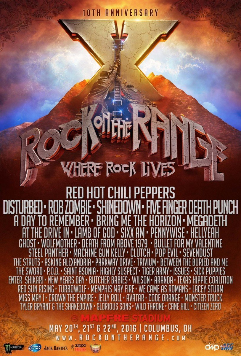 rock on the range 2016 lineup poster-