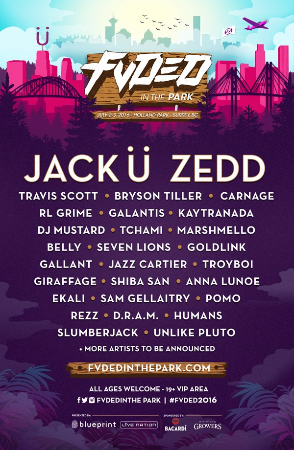 Fvded In The Park Drops 2016 Lineup