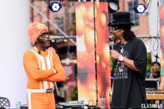 DJ Lance Rock with Bootsy Collins @ Moogfest 2016 © Dan Kulpa