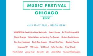Pitchfork Music Festival 2016; Daily Lineups