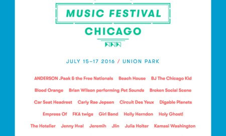 Pitchfork Music Festival 2016; Daily Lineups