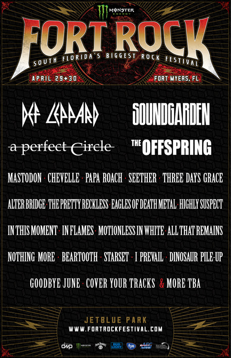 Fort Rock 2017 at Fort Myers (Florida) - Apr 29 2017