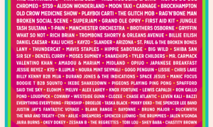 Bonnaroo Music and Arts Festival at Manchester, Tennessee - June 7-10 2018 poster lineup admat