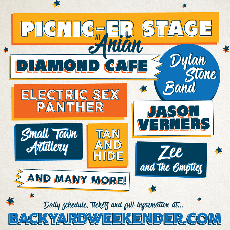 The Phillips Backyard Weekender 2018 lineup poster admat