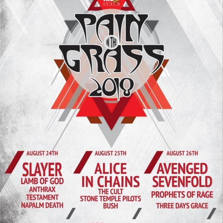 Pain In The Grass 2018 ft. Slayer + Alice In Chains + Avenged Sevenfold + many more at White River Amphitheatre