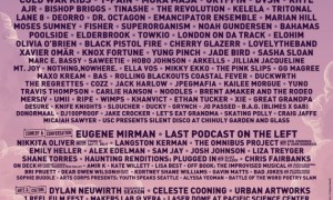 Bumbershoot Festival 2018 in Seattle, WA lineup poster - August 31st-September 2nd, 2018