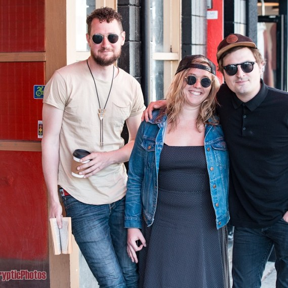 Indie band Wild Child outside of The Fox Cabaret in Vancouver, BC on April 26th 2018