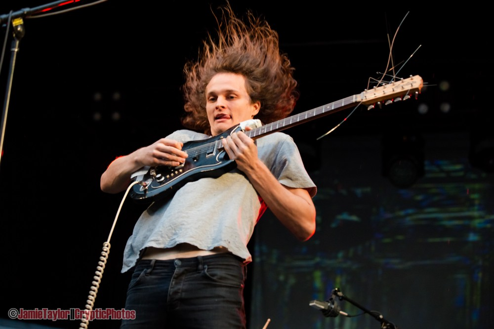 Stu Mackenzie of King Gizzard and the Lizard Wizard performing at Malkin Bowl in Vancouver, BC on June 5th 2018