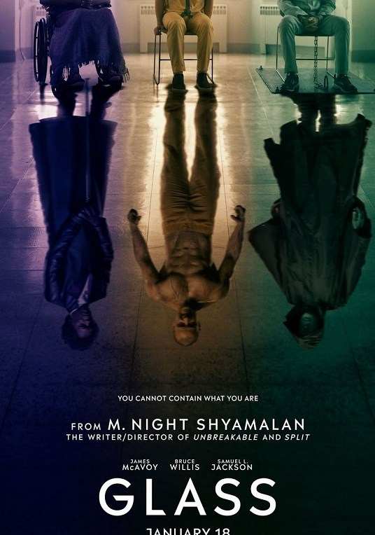 Glass [2019] movie poster - release january 18 2019