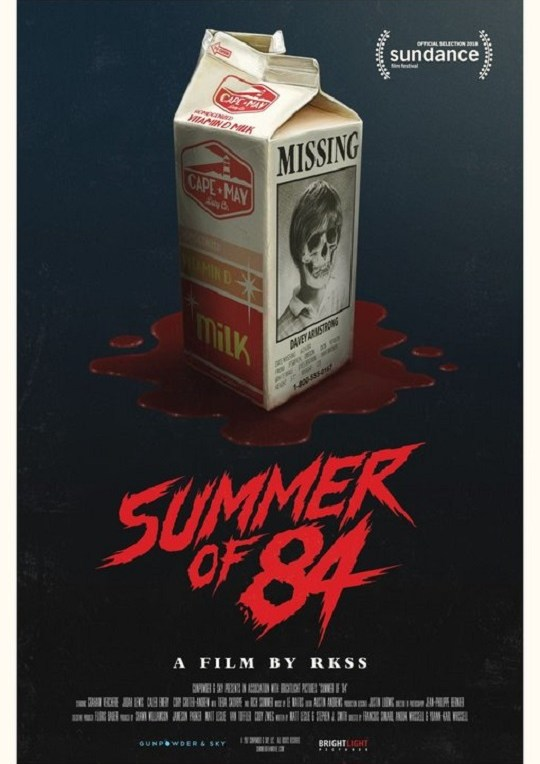 Summer of 84 movie poster - August 10th 2018
