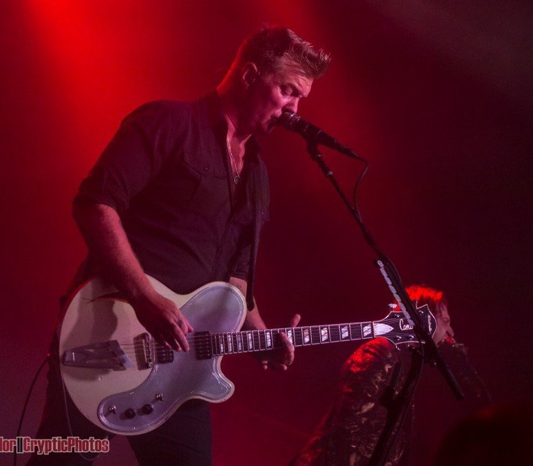 Josh Homme of Queens Of The Stone Age performing at The Commodore Ballroom in vancouver, BC on August 4th 2018