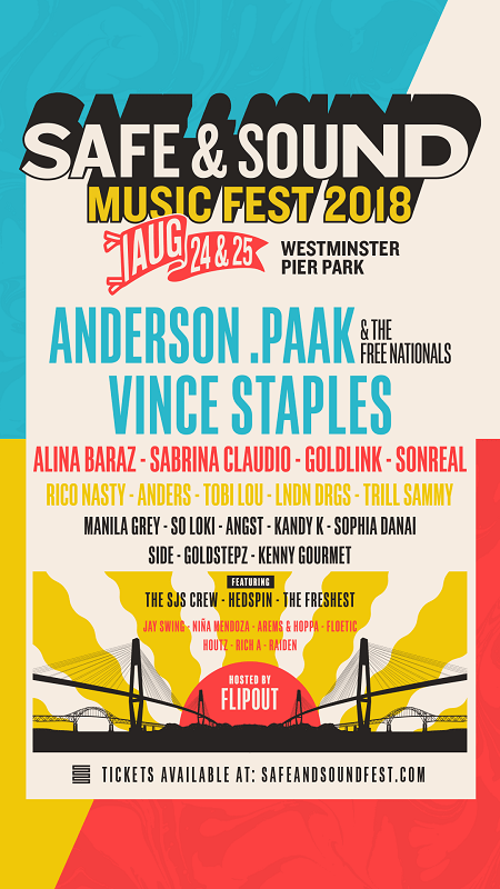 safe and sound festival new westminster vancouver 2018 lineup poster