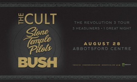 Contest Giveaway to Win Tickets to The Cult + Stone Temple Pilots + Bush at Abbotsford Centre in Abbotsford, BC on August 28th 2018