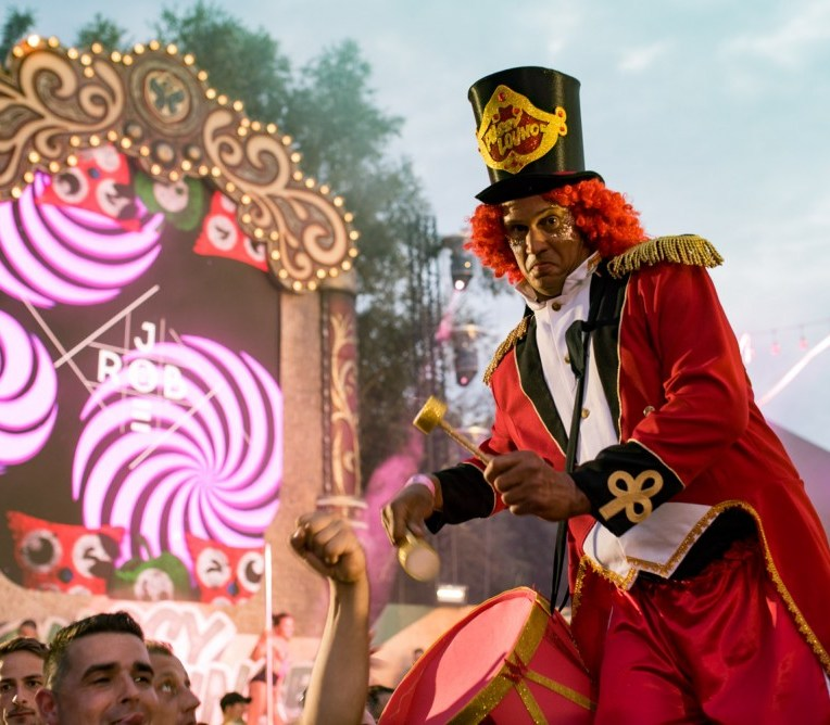 Crowd at Tomorrowland 2018 at Provinciaal Recreatiedomein De Schorre in Boom, Belgium, on July 27th-29th 2018